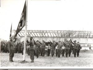 Flag-raising in Molotschna, 1942